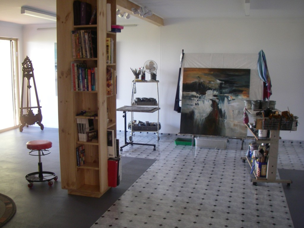 Lyne Marshall's art studio