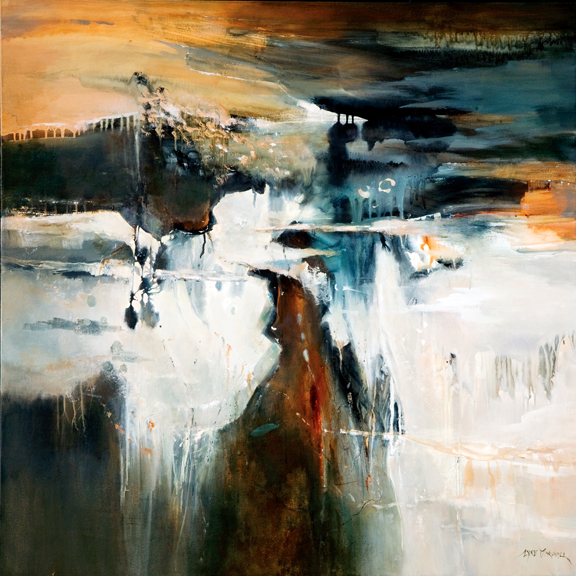 Into the Wilderness 122 x 122 cm acrylic painting