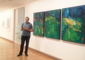 Jon Cattapan with Night Patrols triptych