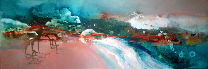 Twilight Seas acrylic on canvas 152 x 51cm SOLD