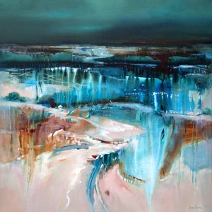Forces of Nature 122 x 122 cm acrylic on canvas