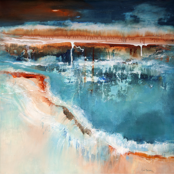 Where Waters Meet 122 x 122 cm acrylic on canvas