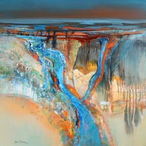 River Deep 91 x 91 cm acrylic on canvas