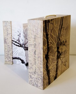 Front View:  Every Tree has a Silver Lining sculptural art by Lyne Marshall