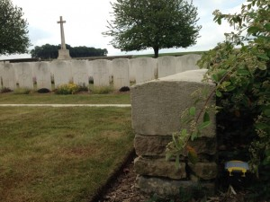 World War One cemetery in France
