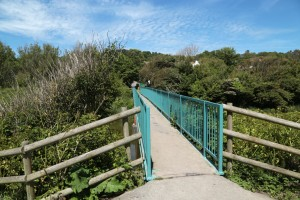 The blue bridge in Hythe