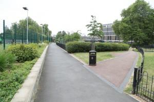 Lambeth garden path Art Pod location