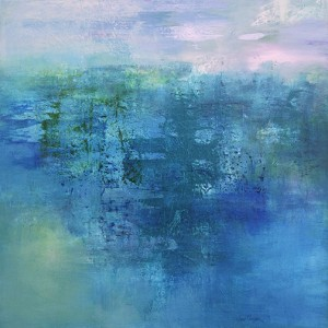 Veiled Horizons Dusk 122 x 122 cm acrylic on canvas