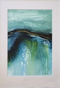 Dancing in the Rain 79 x 54cm acrylic painting by Lyne Marshall