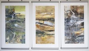 Desert Tracks- 3 original paintings by Lyne Marshall
