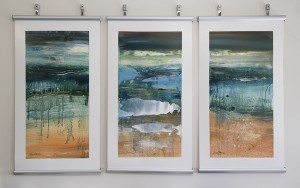 Salt pan Series- three original paintings by Lyne Marshall